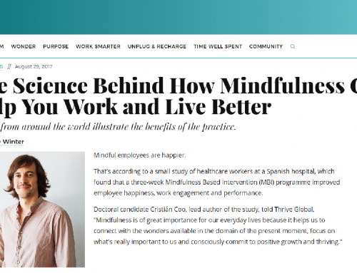 WANT|Prensa: «The Science Behind How Mindfulness Can Help You Work and Live Better» Cristián Coo.