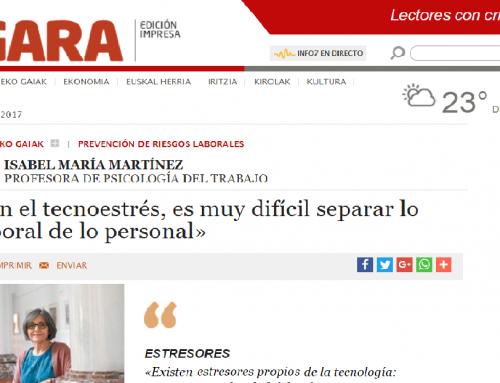 WANT Prensa: «En el tecnoestrés, es muy difícil separar lo laboral de lo personal» Isabel Martínez.