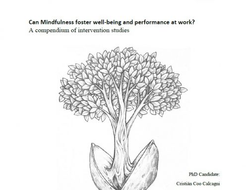 Tesis Cristián Coo: «Can Mindfulness foster well-being and performance at work?»