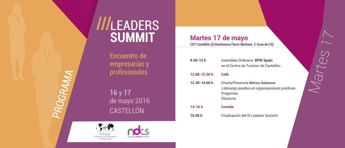 Marisa Salanova participará en la III Cumbre de liderazgo de mujeres empresarias y profesionales